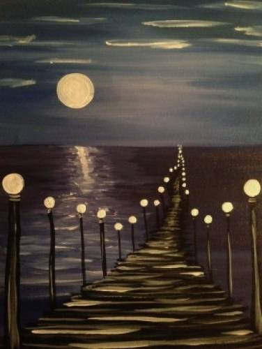 A Moonwalk paint nite project by Yaymaker