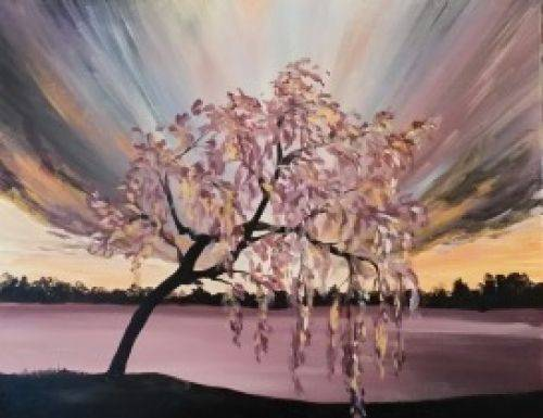 A Weeping Tree paint nite project by Yaymaker
