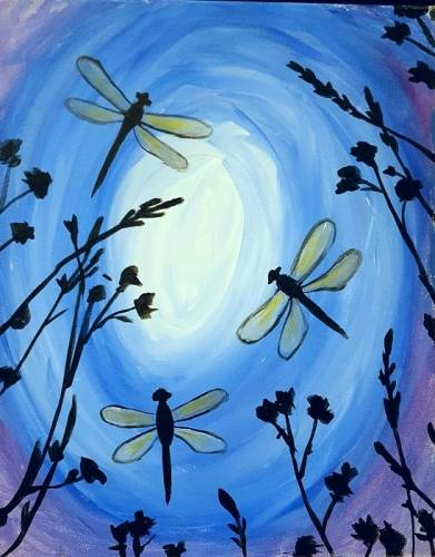 A Dragonflies 1 paint nite project by Yaymaker