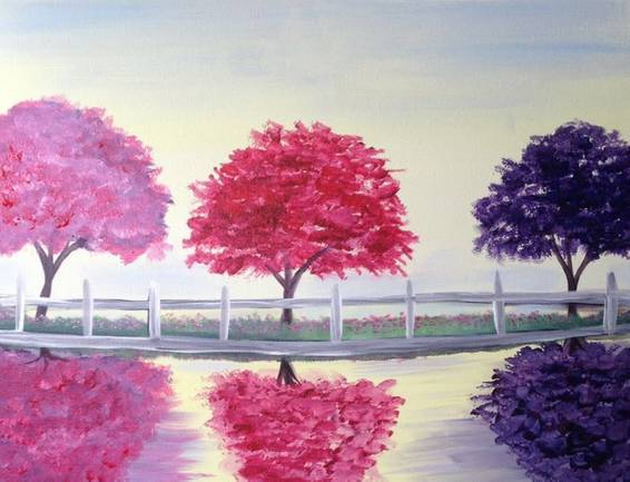 A Three Trees paint nite project by Yaymaker