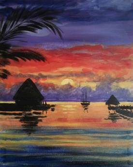 A Vacation Cabanas paint nite project by Yaymaker