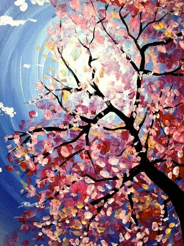 A Spring Blossoms paint nite project by Yaymaker