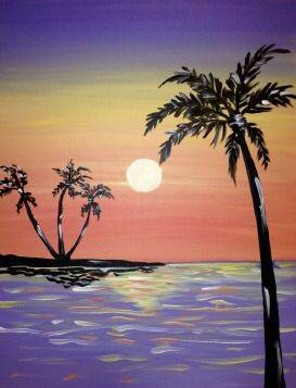 A Island Shimmer paint nite project by Yaymaker