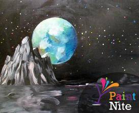 A Moonscape paint nite project by Yaymaker