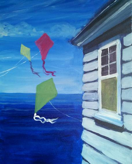 A Home By The Sea paint nite project by Yaymaker