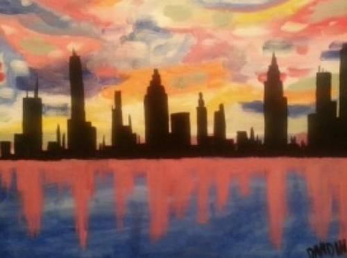 A Skyline paint nite project by Yaymaker