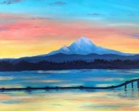 A Sunset Over Lake Washington paint nite project by Yaymaker