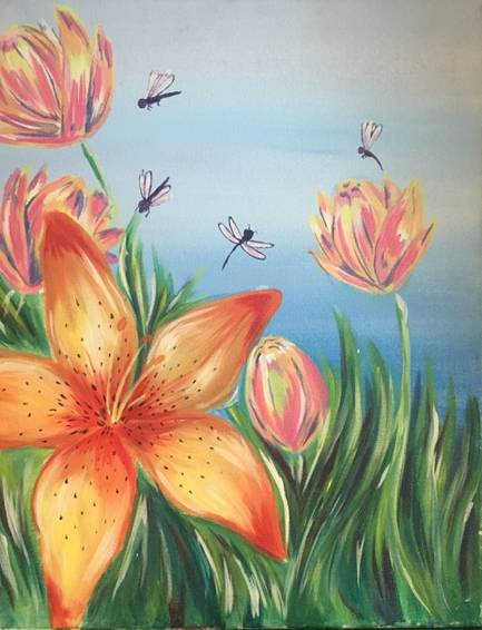 A Dragonfly City paint nite project by Yaymaker