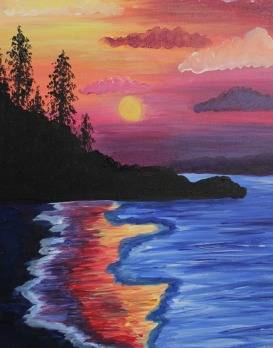 A Rainbow Shore paint nite project by Yaymaker