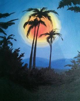A Tropic Moon paint nite project by Yaymaker