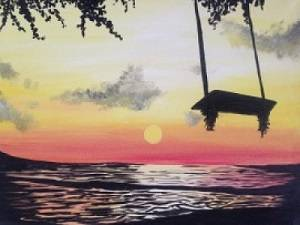 A Swing into Summer paint nite project by Yaymaker