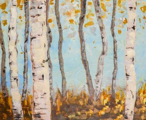 A The Birch Trees paint nite project by Yaymaker