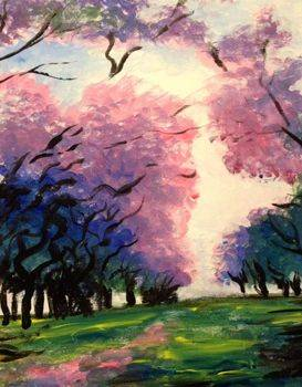 A Lavender Path paint nite project by Yaymaker