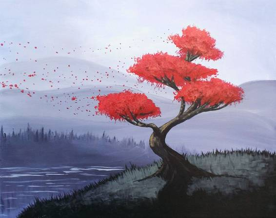 A Float Away paint nite project by Yaymaker