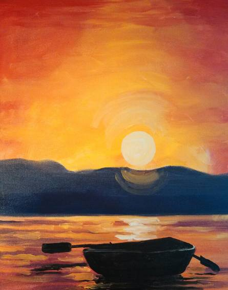 A Early Evening Row paint nite project by Yaymaker