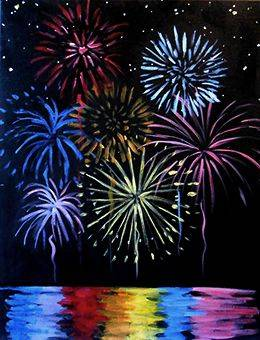 A Fireworks paint nite project by Yaymaker