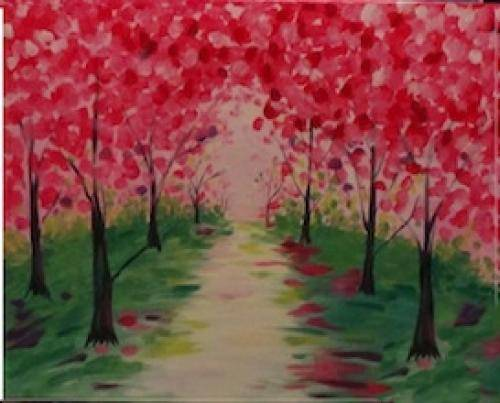 A Enchanted Path paint nite project by Yaymaker