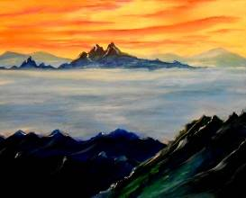 A The Cascades paint nite project by Yaymaker