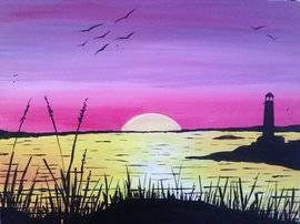 A Goodnight Sun paint nite project by Yaymaker