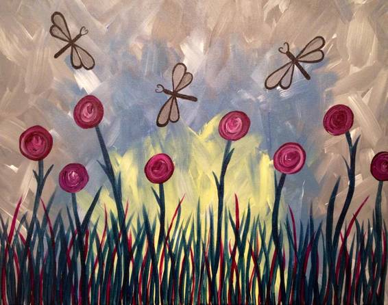 A Dragonfly Dreams paint nite project by Yaymaker