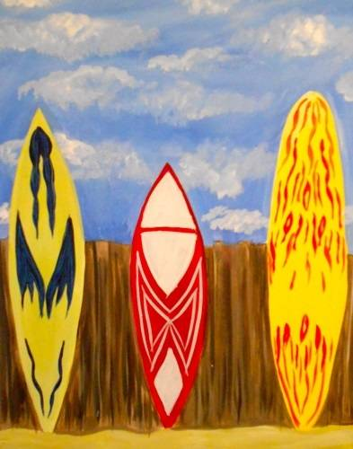 A Surfs Up paint nite project by Yaymaker