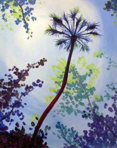 A Palm Tree Dream paint nite project by Yaymaker