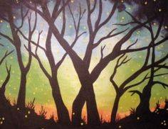 A Twilight Trees paint nite project by Yaymaker