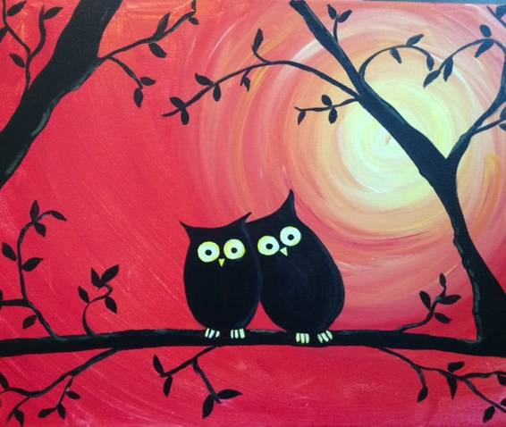A Owls 1 paint nite project by Yaymaker