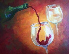 A Pouring WIne 1 paint nite project by Yaymaker