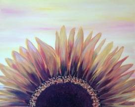 A Blooming Sunflower paint nite project by Yaymaker