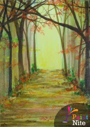 A Eerie Trail paint nite project by Yaymaker