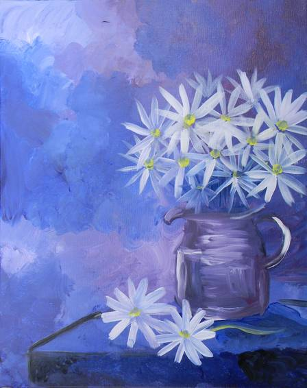 A Violet Daisy paint nite project by Yaymaker