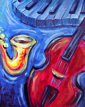 A Blue Notes paint nite project by Yaymaker