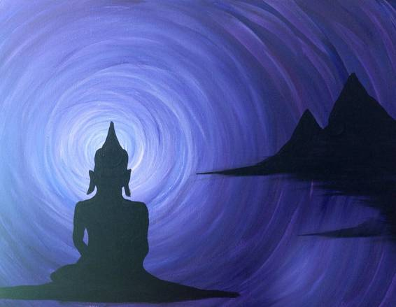 A Zen Out paint nite project by Yaymaker