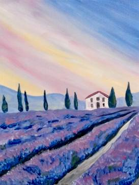 A Lucky Lavender paint nite project by Yaymaker