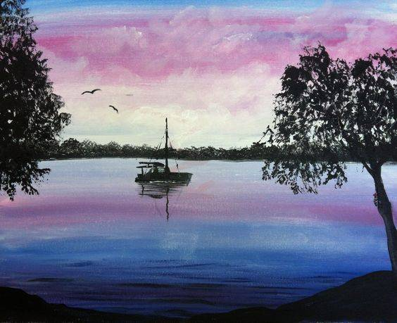 A August Sail paint nite project by Yaymaker