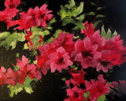 A Garden Flowers paint nite project by Yaymaker