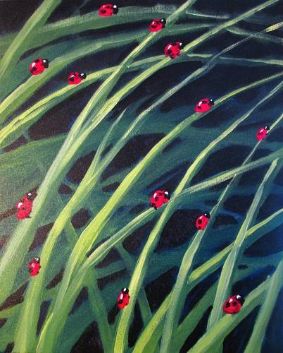 A Ladybug Race paint nite project by Yaymaker