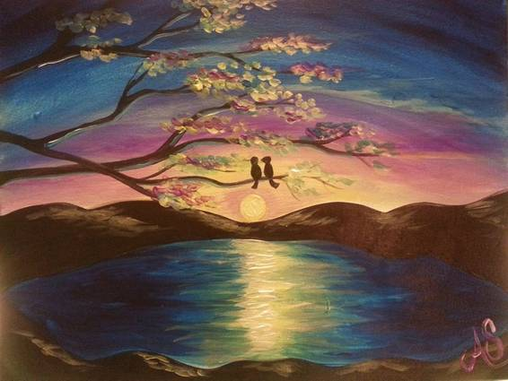A Lilac Lake paint nite project by Yaymaker