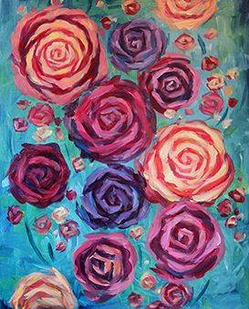 A Rose is a Rose paint nite project by Yaymaker