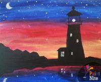 A Lonely Lighthouse paint nite project by Yaymaker