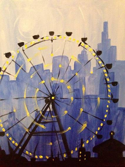 A Ferris Wheel paint nite project by Yaymaker