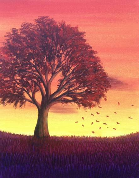 A Indian Summer Breeze paint nite project by Yaymaker