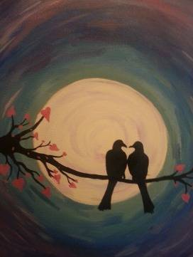A Love Birds 1 paint nite project by Yaymaker