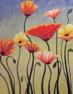 A Wild Flowers paint nite project by Yaymaker