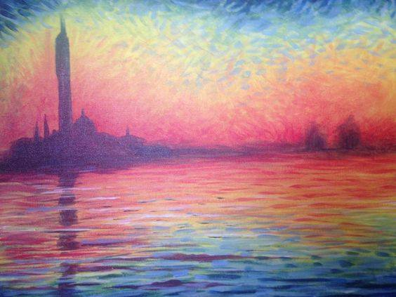 A Monet Sunset paint nite project by Yaymaker