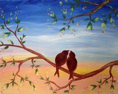 A Young Romance paint nite project by Yaymaker