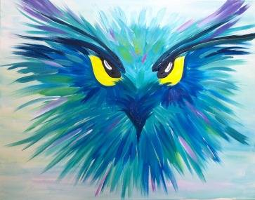 A Abstract Owl paint nite project by Yaymaker