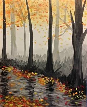 A Autumn Haze paint nite project by Yaymaker
