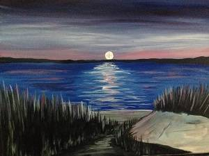 A Moonlit Rendezvous paint nite project by Yaymaker